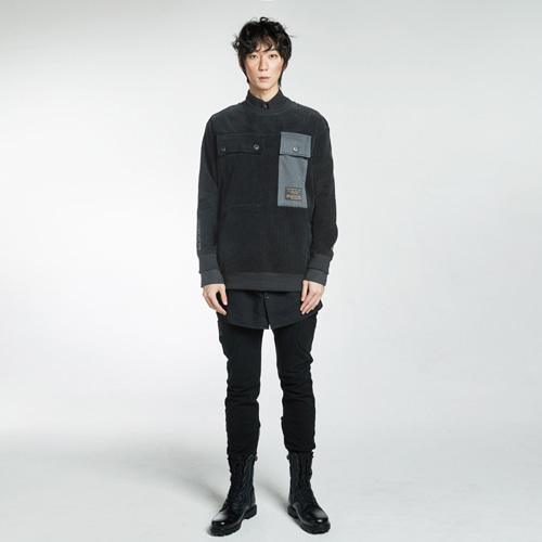 [Balancewood] Corduroy Sweat Shirt (black)