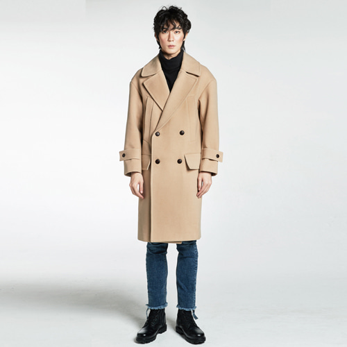 [Balancewood] Double Over Coat(beige)