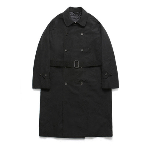[LAFUDGESTORE](Unisex) Classic Over Trench Rain Coat_Black