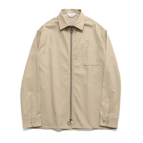 [LAFUDGESTORE](Unisex) Two Way Shirt Jacket_Beige