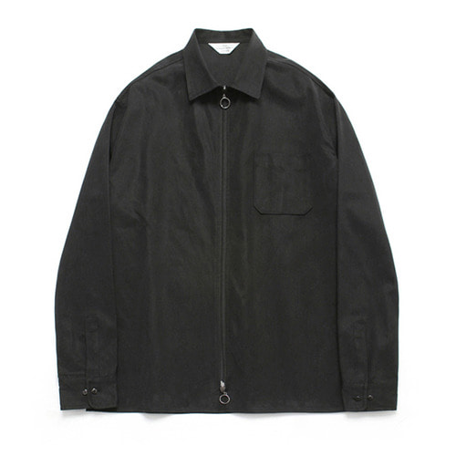 [LAFUDGESTORE](Unisex) Two Way Shirt Jacket_Black