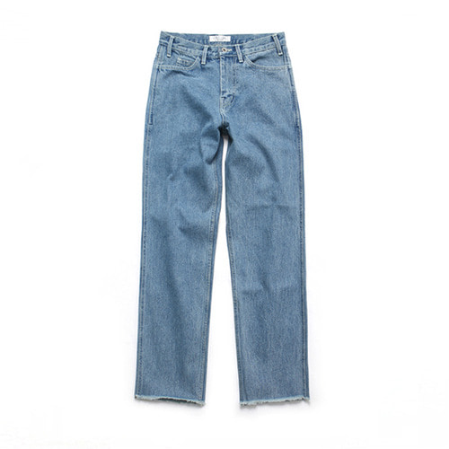 [3/9일 예약배송][LAFUDGESTORE](Unisex) Relax Crop jeans_Light Blue