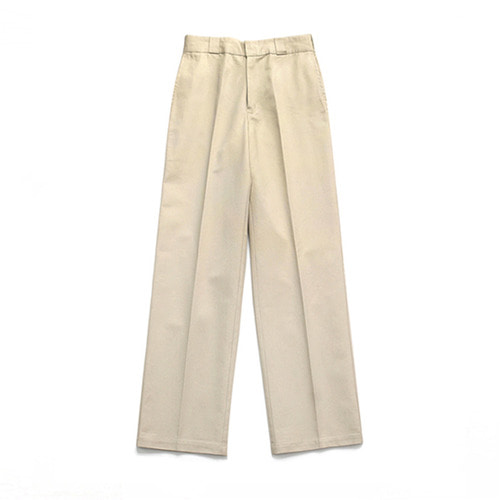 [3/20일 예약발송][LAFUDGESTORE](Unisex) Cotton Wide Pants_Beige