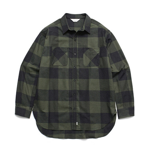 [LAFUDGESTORE](Unisex) Gingham Check Shirt Green
