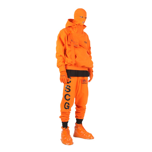 [MASTER NUMBER]PRISONER HIGH NECK HOOD_ORANGE