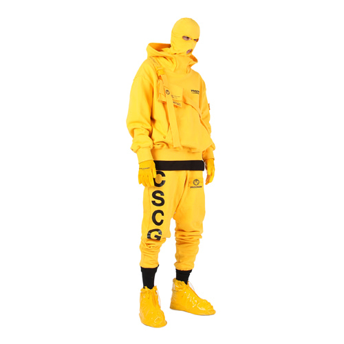 [MASTER NUMBER]PRISONER HIGH NECK HOOD_YELLOW