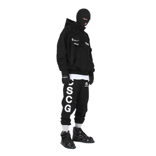 [MASTER NUMBER]PRISONER HIGH NECK HOOD_BLACK