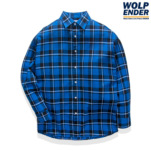 [WOLPENDER] (Unisex) Land Flannel Check-Shirts