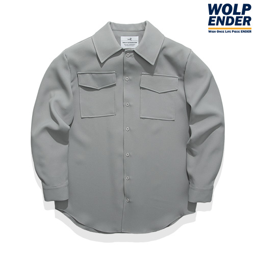 [WOLPENDER] (Man) Pocket Point Overfit Shirts