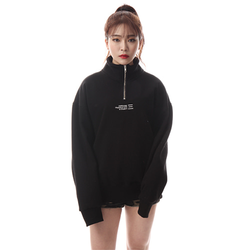 [앱놀머씽] SBL Half Zip UP Pullover (Black)