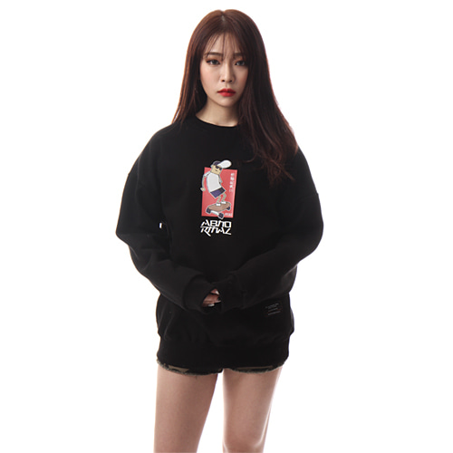 [앱놀머씽] Skateboy Crewneck (Black)