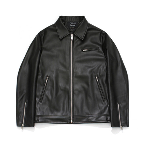 [LAFUDGESTORE][리뉴얼ver.] Buffing Leather Dash Jacket