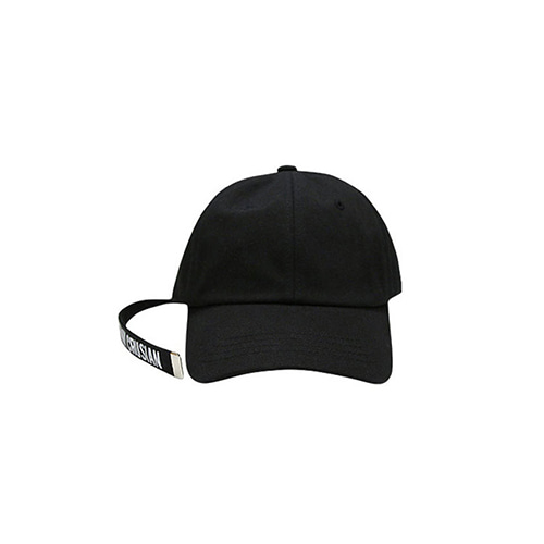 [PINK CRUSIAN] Long Tail Baseball Cap _Black
