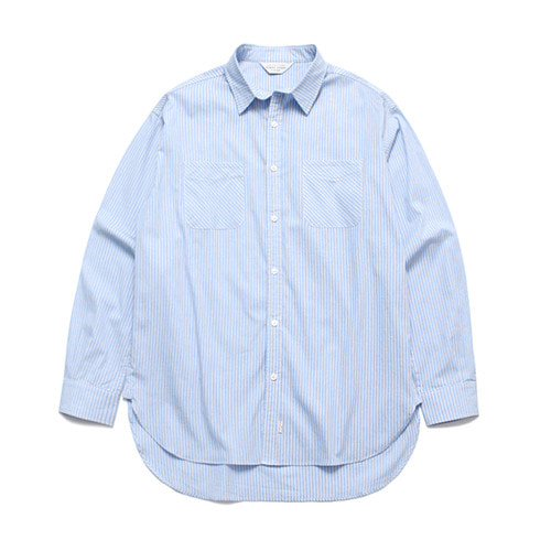 [LAFUDGESTORE](Unisex) Alternate Stripe Shirt_Sky