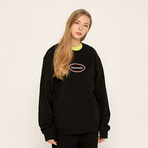 [EINEN]circle logo sweatshirts mtm black