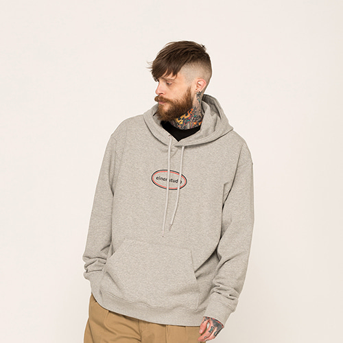 [EINEN]circle logo hooded sweatshirts melange