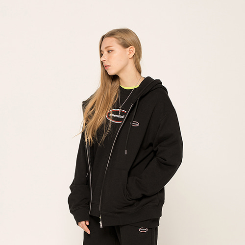[EINEN]s logo hooded sweatshirts black