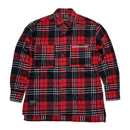 [OHVERDOSE]2-POCKET CHECK SHIRTS JACKET