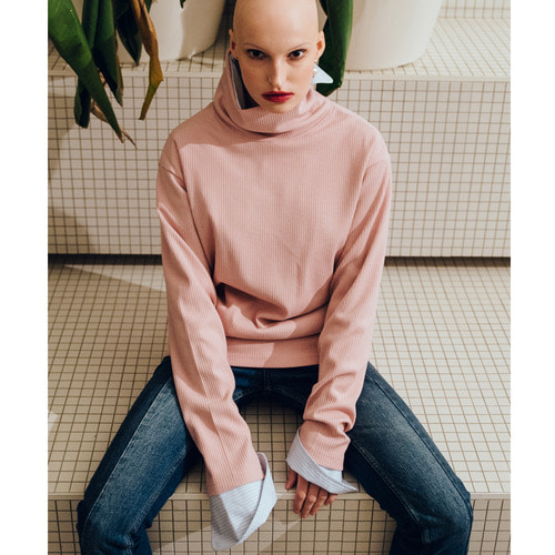 [199XKIDS] TURTLENECK SHIRTS (PINK)