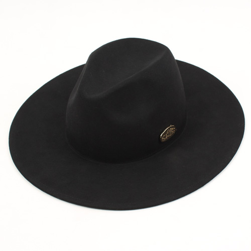 [UNIVERSAL CHEMISTRY] Black Simple Fedora BK 페도라