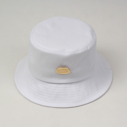 [UNIVERSAL CHEMISTRY] White Bucket Hat GD 메탈버킷햇