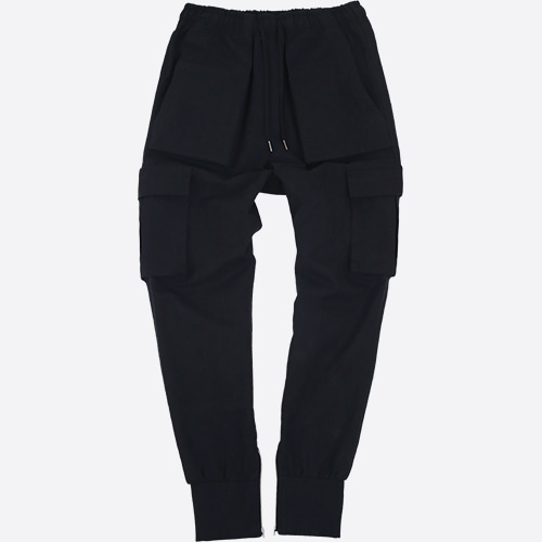 [NOT4NERD]Cargo Jogger Pants - Black
