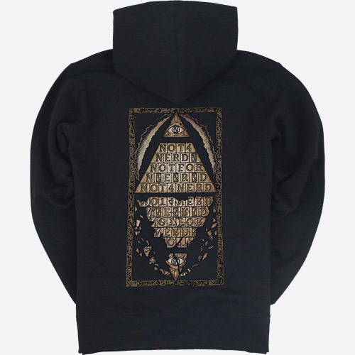 [NOT4NERD]Pyramid Pullover Hood - Black