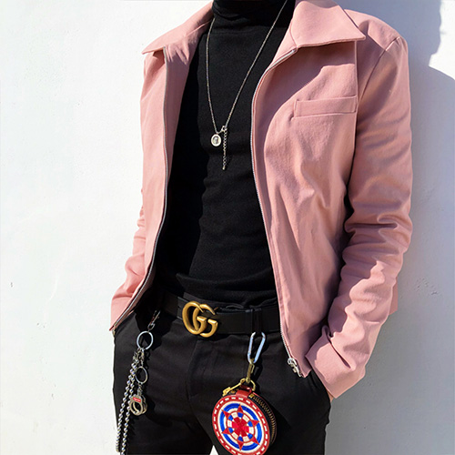 [4BLESS] Crop Jacket Indie Pink