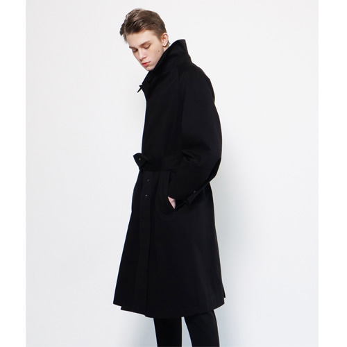 [Coquet Studio]Unisex Mac Military Develop Coat Black