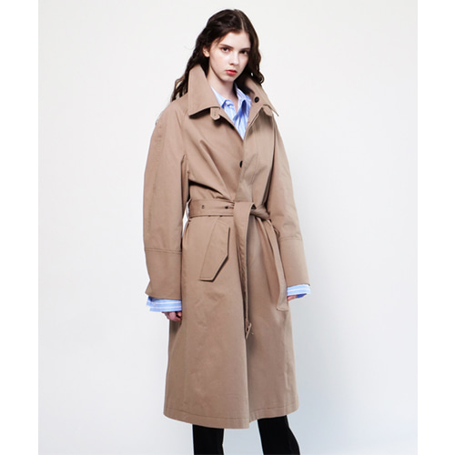 [Coquet Studio]Unisex Mac Military Develop Coat Gold Beige