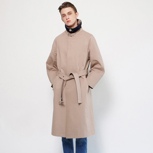[Coquet Studio]Unisex Mac Military Develop Coat Beige / Navy