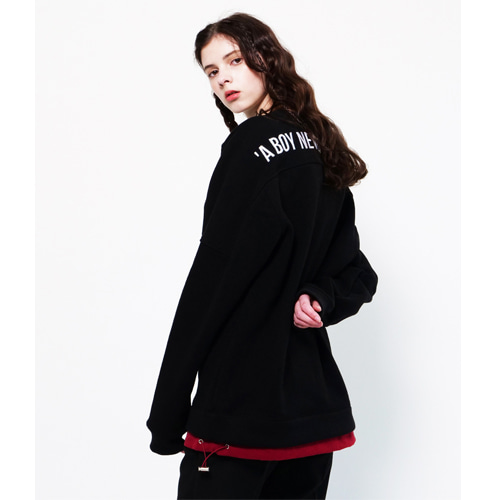 [Coquet Studio]Unisex String Detail Sweatshirt Black