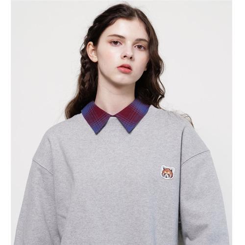 [Coquet Studio]Unisex Signature Lesser Panda Wappen Sweatshirt Gray