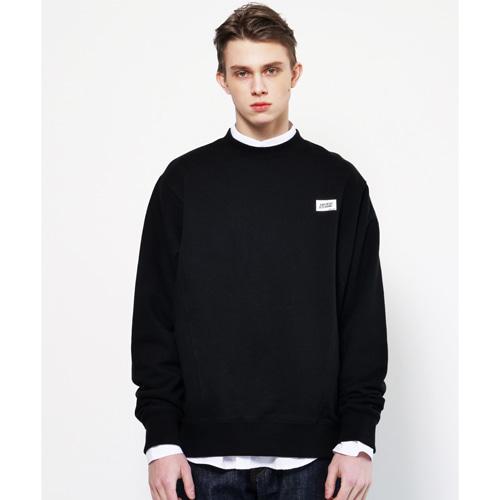 [Coquet Studio]Unisex Box Logo Oversize Sweatshirt Black