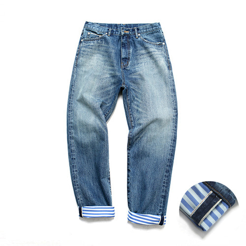 [3/9일 예약발송][LAFUDGESTORE][LAFITS] (Unisex) ST Roll UP Selvedge Jeans_Deep Blue