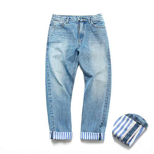 [3/9일 예약발송][LAFUDGESTORE][LAFITS] (Unisex) ST Roll UP Selvedge Jeans_Light Blue