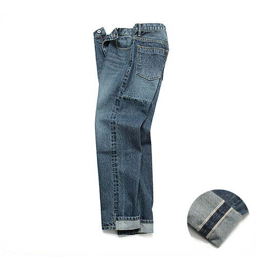 [3/9일 예약발송][LAFUDGESTORE][LAFITS] (Unisex) Roll UP Crop Selvedge Jeans