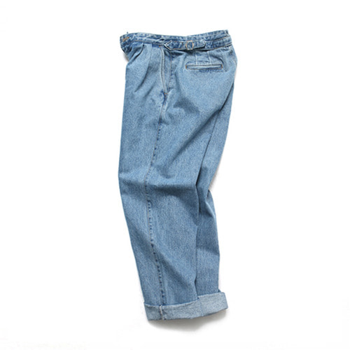 [3/9일 예약발송][LAFUDGESTORE][LAFITS] (Unisex) Velcro Semi Wide Jeans_Light Blue
