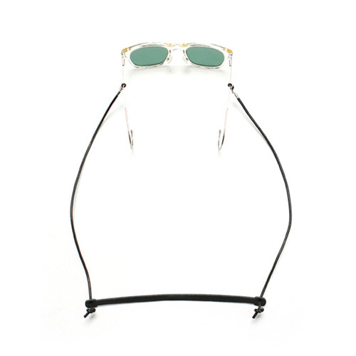 [LAFUDGESTORE](Unisex) Vegetable Leather Glasses Strap_Black