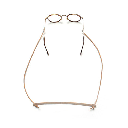 [LAFUDGESTORE](Unisex) Vegetable Leather Glasses Strap_Camel