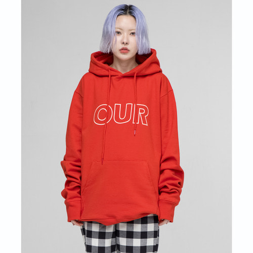 [OURHISTORY]OUR Logo Hood T-shirt_Red