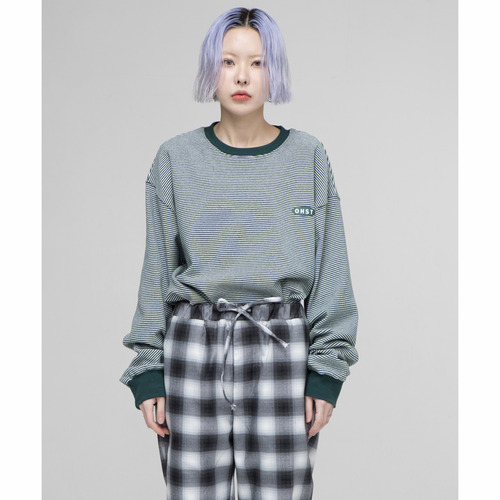 [OURHISTORY]OHST Stripe Long Sleeve T-shirt_Green
