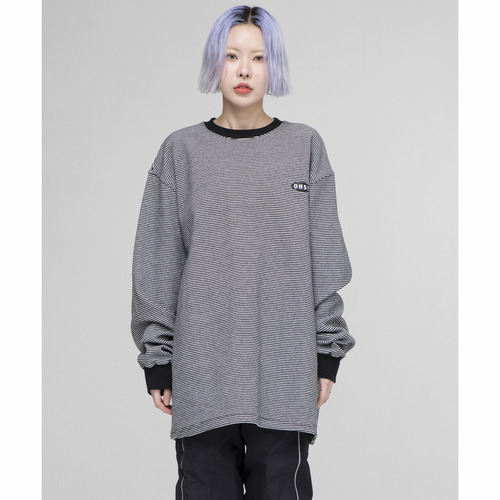 [OURHISTORY]OHST Stripe Long Sleeve T-shirt_Black