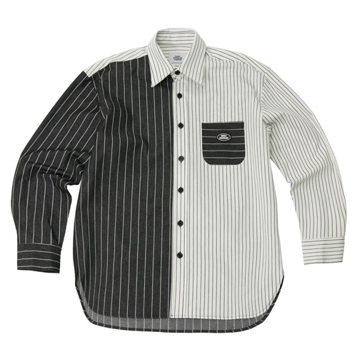 [2월28일예약발송][Double adrenaline syndrome] STRIPE BLOCK SHIRTS