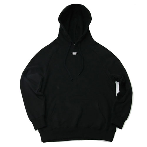 [2월28일예약발송][Double adrenaline syndrome] RAGLAN BLOCK HOODIE - BLACK