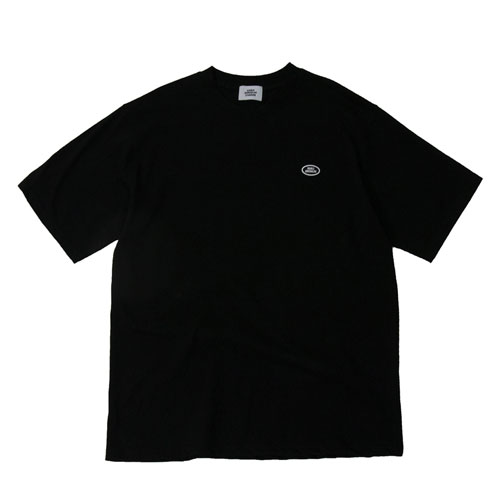 [Double adrenaline syndrome] BASIC LOGO 1/2 TEE - BLACK
