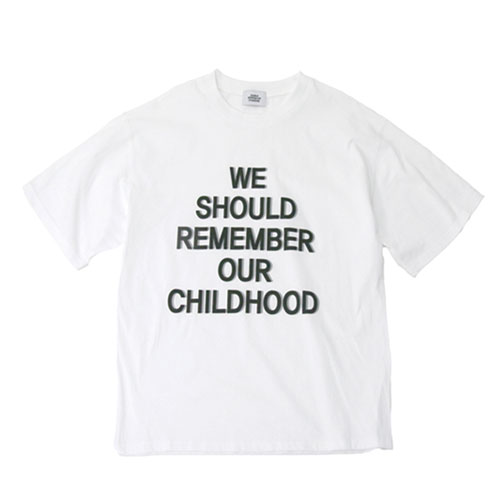 [Double adrenaline syndrome] CHILDHOOD 1/2 TEE - WHITE