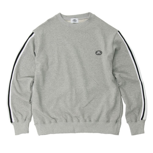 [2월28일예약발송][Double adrenaline syndrome] TAPING SLEEVE SWEATSHIRTS - GRAY