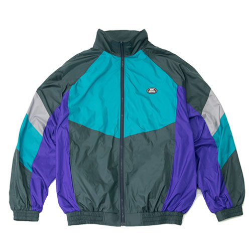 [Double adrenaline syndrome] RETRO WIND JACKET - GREEN