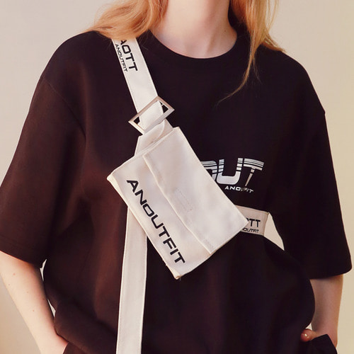 [언아웃핏]UNISEX COTTON UTILITY BAG WHITE